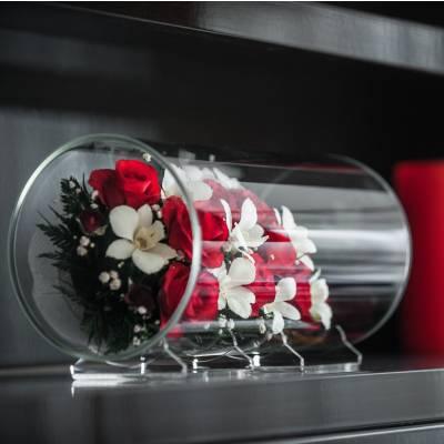Живые цветы в стекле - сохраняются 5-7 лет!