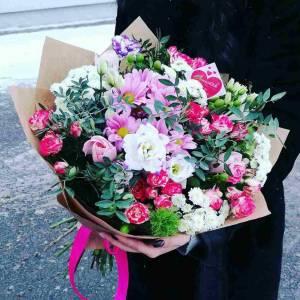 Сборный букет хризантемы R001